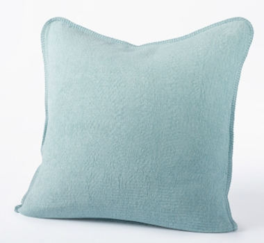 Coyuchi Organic Cozy Cotton Decorative Pillow In Sea Spray