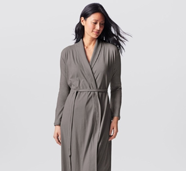 Coyuchi Women's Solstice Robe in Slate
