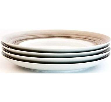 Dakota Porcelain Dinner Plate Set Of 4 - Birch
