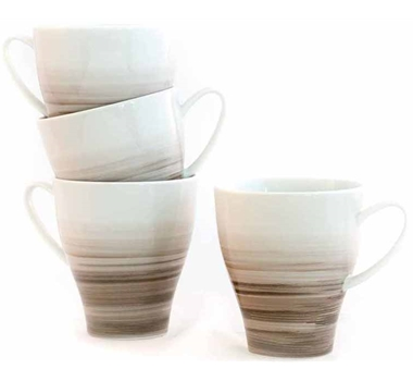 Dakota Porcelain Mug Set Of 4 - Birch