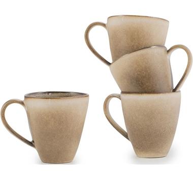 Farmstead Stoneware Mug Set Of 4 - Mushroom