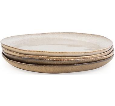 Farmstead Stoneware Pasta Bowl - Set Of 4 - Mushroom