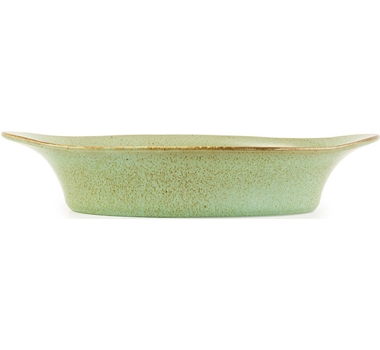 Farmstead Stoneware Large Oval Baker - Mint