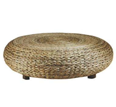 Structured Green Abaca Ottoman By Padmaâ??s Plantation