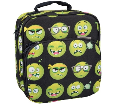 Insulated Lunch Tote with Side Pocket - Emoji