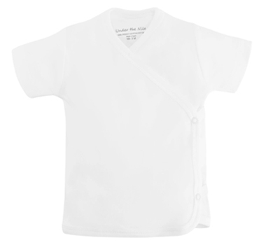 Organic Cotton Short Sleeve Side Snap T-Shirt - White