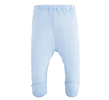 Organic Cotton Footed Pant - Blue