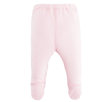 Organic Cotton Footed Pant - Pink