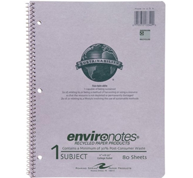 Environotes Recycled Spiral Notebook