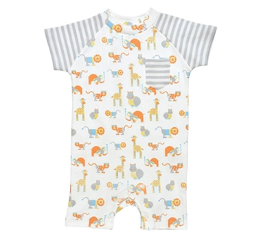 Organic Cotton Romper - Safari Animal Print