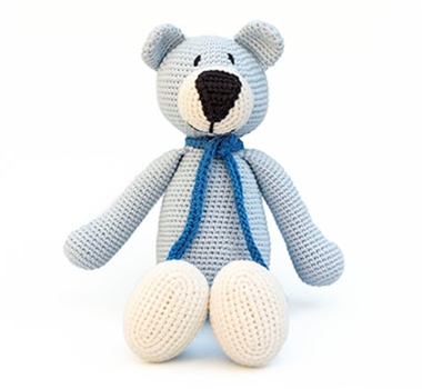 Organimals By Ultimate Green / Franklin The Blue Bear / Organic Cotton Stuffed Bear Toy
