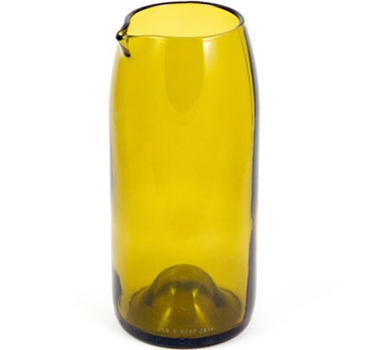 Recycled Wine Bottle Carafe in Olive - 20 oz.