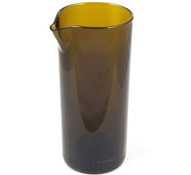 Recycled Wine Bottle Carafe in Amber - 20 oz.