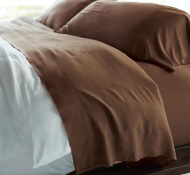 Cariloha Resort Bamboo Bed Sheets - Almond Truffle