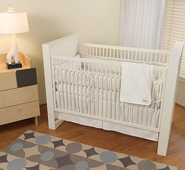 White Organic Cotton Crib Bedding Collection + Blankets