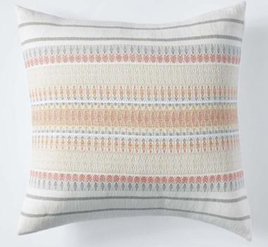 Coyuchi Lost Coast Organic Cotton Decorative Pillow Cover In Coral