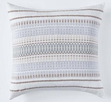 Coyuchi Lost Coast Organic Cotton Decorative Pillow Cover In Earth