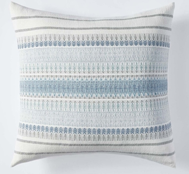 Coyuchi Lost Coast Organic Cotton Decorative Pillow Cover in Marine
