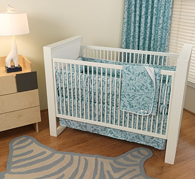Whispering Grass Organic Crib Bedding Collection + Blankets ($49- $194)