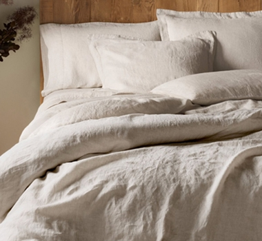 Coyuchi Organic Linen Chambray Duvet Cover in Natural Chambray