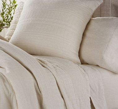 Coyuchi Organic Cotton Willow Matelasse Euro Sham in Natural