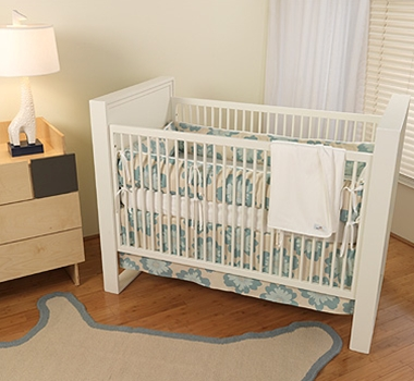 Uncomplicated Organic Cotton Crib Bedding + Blankets ($49- $194)