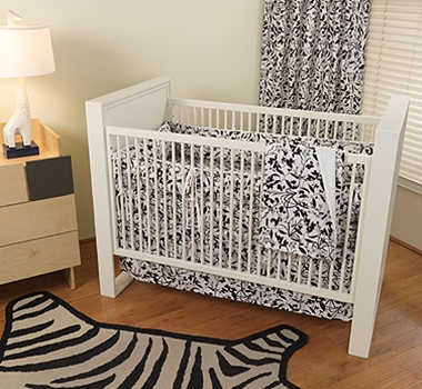 Casablanca Organic Cotton Crib Bedding + Blankets