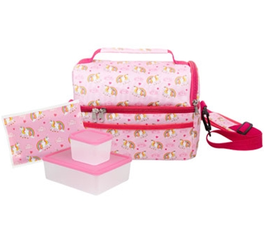 Bentology Dual Compartment Lunch Kit Unicorn