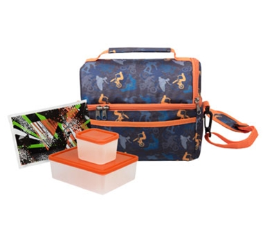 Bentology Dual Compartment Lunch Kit Extreme Sports