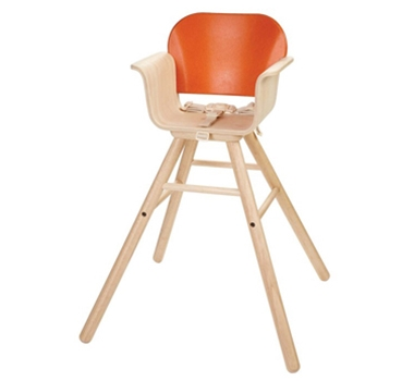 Plan Toys Eco-Friendly High Chair - Orange