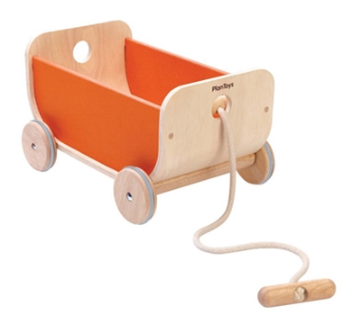 Plan Toys Eco-Friendly Wagon  - Orange