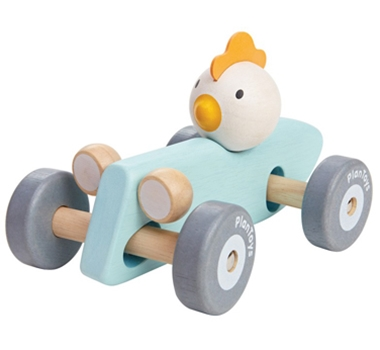 Plan Toys Eco-Friendly Chicken Racing Car