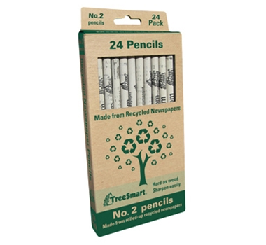 Recycled Newspaper Pencils - Set of 24, featured in a blog post by EcoGoodz, a mixed rags supplier