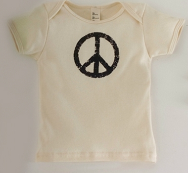 Vintage Peace Natural Kids Short-Sleeved Tee Shirt