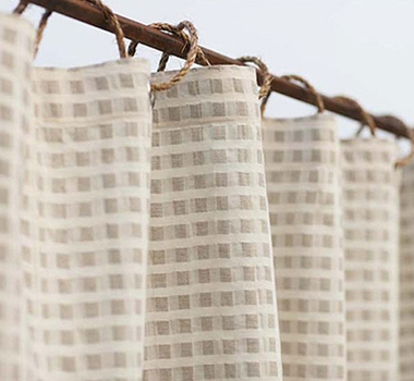 Coyuchi Birch Fine Linen & Organic Cotton Shower Curtain In Natural