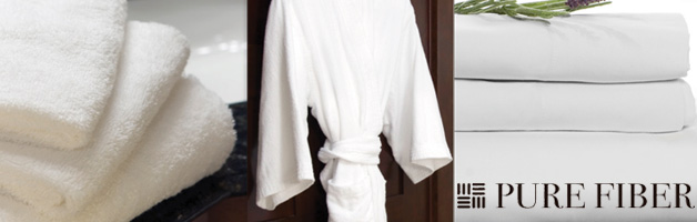 Pure Fiber Bedding, Towels, and Bathrobes