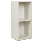 Double Storage Cube Plus in White