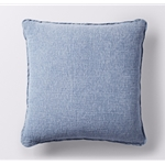 Coyuchi Organic Cozy Cotton Decorative Pillow Cover in Riverstone