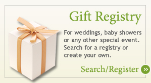 Gift Registry at The Ultimate Green Store