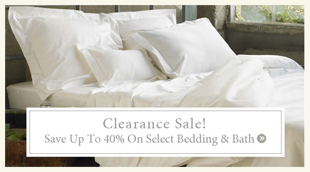 White Sale - Save Up To 40% on Bedding
