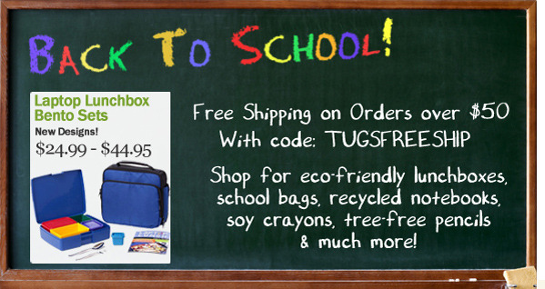 Free Shipping on Eco School Bags, Lunchboxes & Supplies over $50
