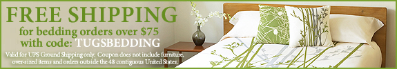Free Shipping on Organic Bedding over $75 with code TUGSBEDDING by The Ultimate Green Store