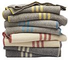 Coyuchi Organic Striped Wool Blankets