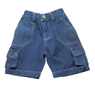 Organic Denim Toddler Cargo Shorts