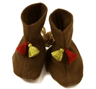 Kabuki Organic Cotton Booties in Chocolate Brown