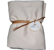 White Organic Cotton Crib Sheet ($49)