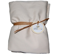 Natural White Organic Cotton Crib Sheet ($49)