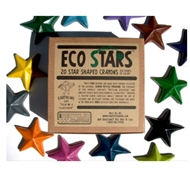 Crazy Crayons Eco Stars Recycled Wax Crayons - Box of 20