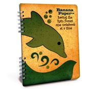 Banana Paper Recycled Notebook 2-Subject College Rule Dolphin