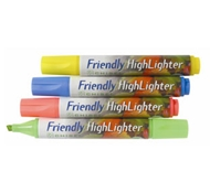 Recycled Highlighter Markers with Chisel Tip – Assorted Neon 4-pack